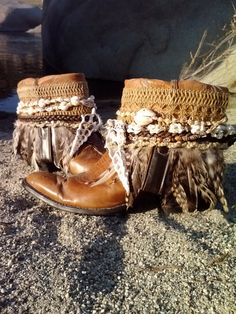 Upcycled Vintage Cowboy Boho Boots Beach Bohemia by kdenee on Etsy, $160.00