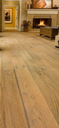 Wirebrushed White Oak floor by Carlisle Wide Plank Wood Floors