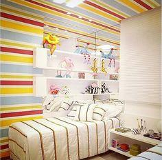 Inspiração ♡ #interiores #design #interiordesign #decor #decoração #decorlovers #archilovers #inspiration #ideias #dormitórioinfantil #quartoinfantil #bedroom #kidsroom #quartodemenina #bohrerarquitetura