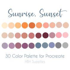 Colour Pallette, Color Combos, Color Schemes, Ipad, Sunset Palette, The Blushed Nudes, Color Swatches, Color Theory, Color Inspiration