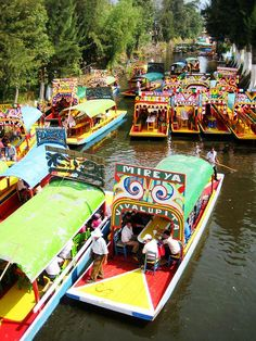 Trajineras in Xochimilco Mexico City #Mexico, #cities, #travel, https://facebook.com/apps/application.php?id=106186096099420
