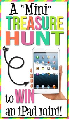 CLUES 1 through 5 are now live!!!  Go on a mini treasure hunt to win an iPad mini!! www.TheDatingDivas.com #treasurehunt #iPadmini #clues