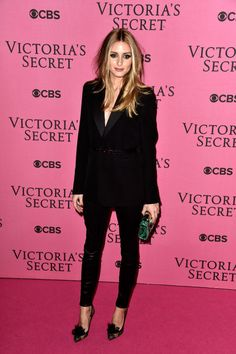 With a tank underneath and different hair and makeup, this could go from VS pink carpet to boardroom in 60 seconds flat.