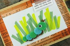 cute cards using felt, washi and some sewing.  squee!