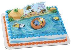 Despicable Me 2 Beach Party cake favors