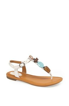 Clarks® 'Indira Pompano' Beaded Thong Sandal available at #Nordstrom