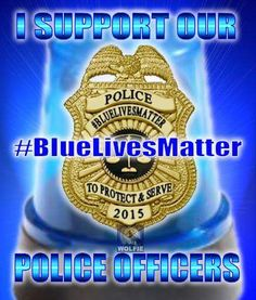 Remember to paint a thin blue line on your curb to honor police officers>>>#BlueLivesMatter