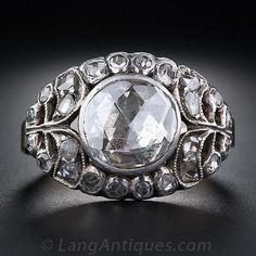 rose cut diamond engagement ring - Google Search