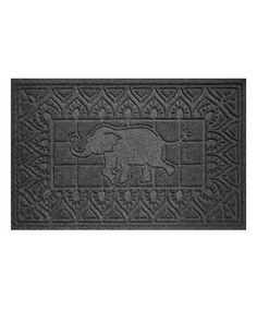 Another great find on #zulily! Charcoal Elephant Doormat #zulilyfinds