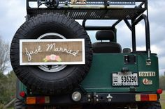 Rustic Just Married Car Sign via #Etsy