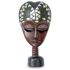 NOVICA Wood sculpture ($82) ❤ liked on Polyvore featuring home, home decor, brown, masks, inspirational home decor, wooden sculptures, novica, wood sculpture and novica home decor