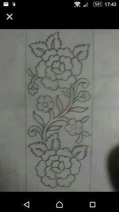 Grand Sewing Embroidery Designs At Home Ideas. Beauteous Finished Sewing Embroidery Designs At Home Ideas. Border Embroidery Designs, Hand Embroidery Patterns, Ribbon Embroidery, Floral Embroidery, Embroidery Stitches, Machine Embroidery, Shirt Embroidery, Bordado Jacobean, Bordado Popular
