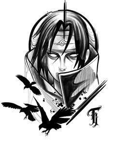 Naruto Sketch Drawing, Naruto Drawings, Naruto Tattoo, Anime Tattoos, Wallpaper Naruto Shippuden, Naruto Wallpaper, Tattoo Design Drawings, Tattoo Sketches, Naruto Shippuden Sasuke
