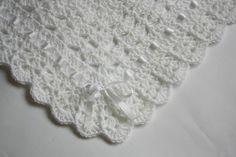 all white crochet baby blanket - Google Search