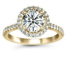 yellow gold engagement ring ~ you never see these anymore but I really like them!