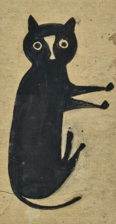 "Bill Traylor (1853-1949), ""Black Cat."""