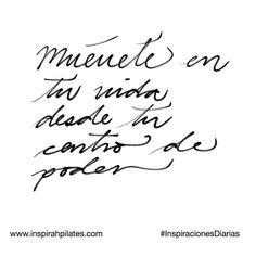 Muévete en tu vida desde tu centro de poder.  #InspirahcionesDiarias por @CandiaRaquel  Inspirah mueve y crea la realidad que deseas vivir en:  http://ift.tt/1LPkaRs