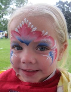 Beautiful Of July Facepainting Ideas For July Party Face Painting Designs, Body Painting, Fourth Of July Shirts For Kids, 4th Of July Makeup, Christmas Face Painting, 4th Of July Photos, 4th Of July Party, July 4th, Thing 1