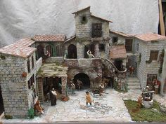 Bildergebnis für porte per presepi Christmas Nativity Scene, Nativity Scenes, Free To Use Images, Fantasy House, Model Train Layouts, Medieval Town, Medieval Houses, Romantic Homes, Stone Houses
