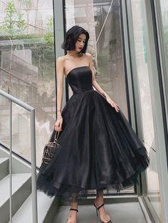 Elegant Black Tulle Short Prom Dress, Black Evening Dress - 2020 New Prom Dresses Fashion - Fashion Of The Year Black Evening Dresses, Black Prom Dresses, Tulle Prom Dress, Prom Party Dresses, Homecoming Dresses, Beautiful Dresses, Pretty Dresses, Short Dresses, Dress Black