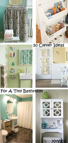 10 Clever Ideas For A Tiny Bathroom. #SmallBathroomIdeas #SmallBathrooms