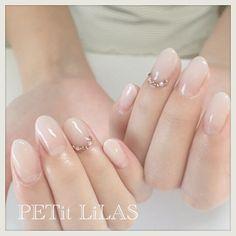 au naturale and some sparkle. Perfect Nails, Gorgeous Nails, Fabulous Nails, Bridal Nails, Wedding Nails, Cute Nails, Pretty Nails, Garra, Nail Envy
