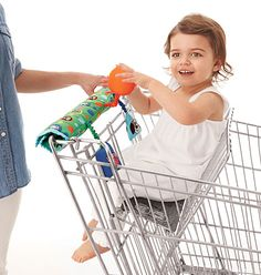 Cover that grimy cart handle and show your tot a good time. Take a look in the mirror, crinkle Dilly Pig and see Duncan Dog dangle. Adjustable hook and loop closure for universal fit. On sale now for only $14.99!