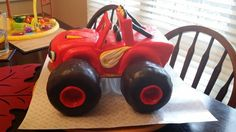 Birthday Cake You Have To See Blaze And The Monster Machines Cake By Causticmuse Buttercream Fondant, Fondant Cakes, Cake Topper Tutorial, Cake Toppers, Torta Blaze, Blaze And The Monster Machines Cake, Truck Cupcakes, Car Themed Parties, Baby Birthday