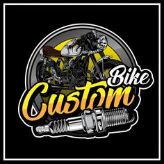 Custom bike logo Premium Vector Bike Logo, Bobber Motorcycle, Motorcycle Quotes, Motorcycle Style, Custom Motorcycles, Custom Bikes, Indian Motorcycles, Triumph Motorcycles, Badge