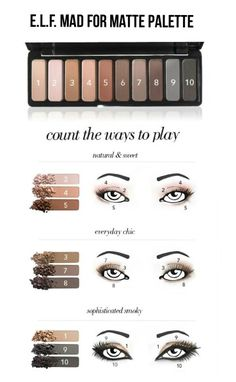 e.l.f. Mad For Matte Palette Looks