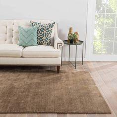 Juniper Home Aurora Handmade Solid Beige Area Rug (8' X 10') (8x10), Size 8' x 10'