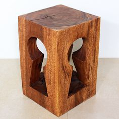 Monkey Pod Wood Keyhole Stool with Walnut-brown Finish (Thailand) | Overstock.com Shopping - The Best Deals on Coffee, Sofa & End Tables