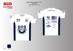 Artwork for the Noarlunga FC warm up (run-on) tops