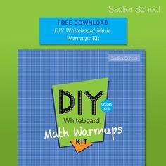 Free Math Games, Math Activities, Diy Whiteboard, School Days, Stuff To Do, Ebooks, Classroom, Kit, Teaching