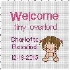 Welcome Tiny Overlord Custom Baby by SnarkyArtCompany on Etsy