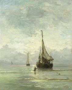 Kalme zee, Hendrik Willem Mesdag, 1860 - 1900