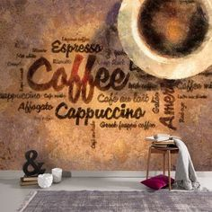 Items similar to Coffee Wallpaper Hot Coffee, Cappiccuno, Espresso Wall Decor Excellent Coffee Cafe Design Modern Wall Decor on Etsy Coffee Cafe, Hot Coffee, Krups Coffee Maker, Black Coffee Benefits, Different Kinds Of Coffee, Coffee Shop Design, Coffee Girl, How To Make Coffee, Modern Wall Decor
