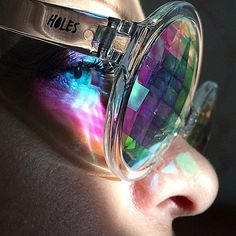 Fancy - H0les Pixel digital Kaleidoscope vision eyeglasses  May 2015