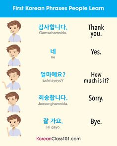 What are the First Korean Phrases people learn? PS Learn Korean with th Korean Words Learning, Japanese Language Learning, Learning Arabic, Learning Italian, Learn Basic Korean, How To Speak Korean, Learn Korean Online, Korean Slang, Korean Phrases