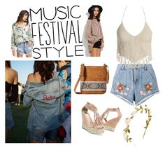 """Fringe, denim and classic floral for Coachella!"" by saralucinda on Polyvore featuring House of Holland, Sans Souci, Muk Luks and M&F Western"