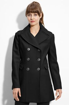 21826e4fa52d Kenneth Cole New York Elongated Wool Peacoat