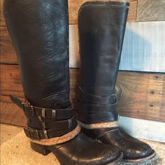 NWT Freebird by Steven Drove Boots Black distressed all leather boots. Never worn tags still on. UPDATED PRICED TO SELL!! :) Steven by Steve Madden Shoes Ankle Boots & Booties