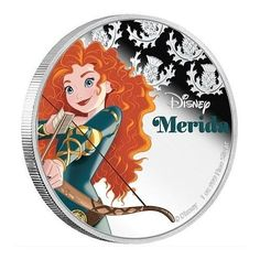 """Disney /""""Merida/"""" 2016 Niue s $2 Silver Coin PF70 Early Release Coin   LAST 3"""