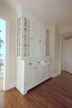 pantry hall cabinet New Kitchen, Kitchen Ideas, Kitchen Design, Hallway Ideas, Beautiful Kitchens, Kitchen Storage, China Cabinet, Storage Ideas, Closets