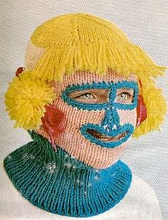 Let me knit you a new face... this is the scariest thing I have ever seen...