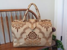 Upos in Mocha Chenille Tapestry Weekender 269  by SignsofWelcome