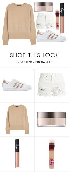 """""""RTDDDDD"""" by xo-ashlyn-ox ❤ liked on Polyvore featuring adidas Originals, R13, The Row, NARS Cosmetics, Maybelline and AshlynsOutfitInspo"""