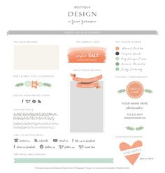 Perfect Salt design Elements - love the colours Graphic Design Branding, Identity Design, Typography Design, Logo Design, Blog Design Inspiration, Web Design, Custom Fonts, Style Tile, Clip Art