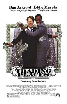 Directed by John Landis. With Eddie Murphy, Dan Aykroyd, Ralph Bellamy, Don Ameche. A snobbish investor and a wily street con artist find their positions reversed as part of a bet by two callous millionaires.