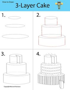 Drawing a 3-D cake will be a piece of cake! Learn to draw cylinder shapes and become a cake designer. Decorate your cake by adding whipped c...